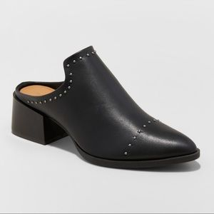 Block-Heel Mules